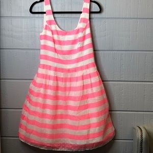 Lilly Pulitzer pink posey stripe dress